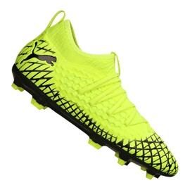 Puma Future 4.3 Netfit Fg / Ag Jr 105693-03 chaussures de football jaune jaune