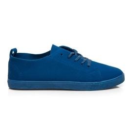 SDS Baskets à lacets bleu