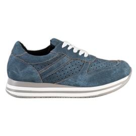 Kylie Chaussures de sport en cuir écologique bleu