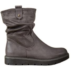Ideal Shoes Travailleurs de la plate-forme gris