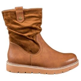 Ideal Shoes Travailleurs de la plate-forme brun