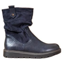 Ideal Shoes Travailleurs de la plate-forme bleu
