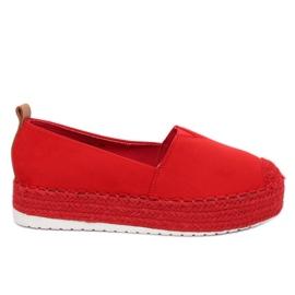 Espadrilles à semelles hautes rouge BL247 Rouge II Espèces