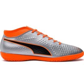 Chaussures de football M Puma One 4 Syn It 104750 01 argent orange, gris / argent