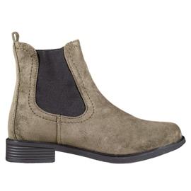 Ideal Shoes Bottes Jodhpur décontractées vert