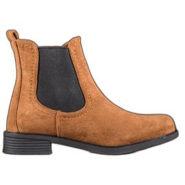 Ideal Shoes Bottes Jodhpur décontractées brun
