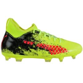 Puma Future 18.3 Fg Ag Jr 104332 01 chaussures de football vert noir, rouge, vert