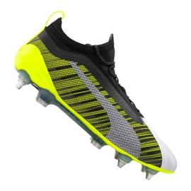 Puma One 5.1 Mx Sg F M M 105615-02 chaussures de football blanc, noir, jaune multicolore