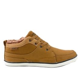 Sneakers homme isolés marron 14M476 brun