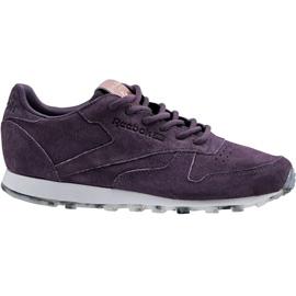 Chaussures Reebok Classic en cuir Shimmer W BD1520 pourpre