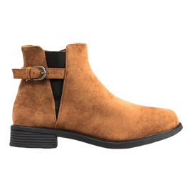 Ideal Shoes Bottes en daim brun