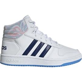 Chaussures Adidas Hoops Mid 2.0 Jr EE8546 blanc