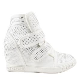Baskets compensées blanches KLS-112-3