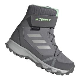 Chaussures Adidas Terrex Snow Cf Cp Cw Jr G26580 gris