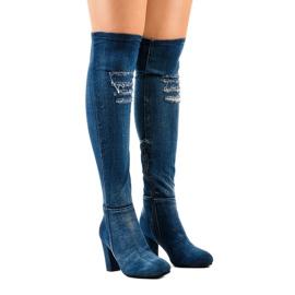 HX15135-96 jeans avec des déchirures marine