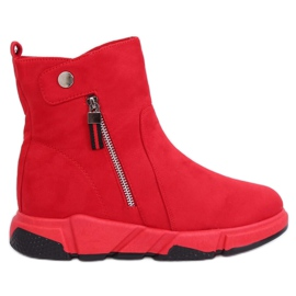 Bottes rouges dans un style sportif SJ1938 Red