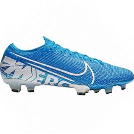 Chaussures de football Nike Mercurial Vapor 13 Elite Fg M AQ4176 414 blanc, bleu bleu