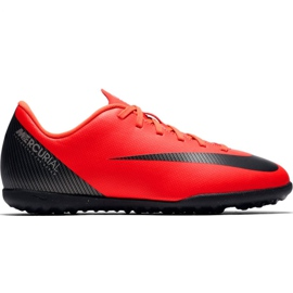Chaussures de football Nike Mercurial Vapor X 12 Club G CR7 Tf Jr AJ3106 600 rouge