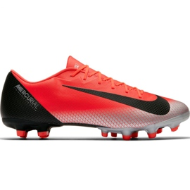 Chaussures de football Nike Mercurial Vapor 12 Academy CR7 Mg M AJ3721 600 rouge
