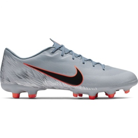 Chaussures de football Nike Mercurial Vapor 12 Academy Mg M AH7375 408 orange, gris / argent gris