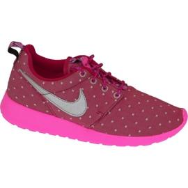 Nike Rosherun Print Gs W chaussures 677784-606 rose
