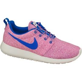 Nike Rosherun Print W 599432-137 chaussures rose