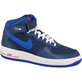 Chaussures Nike Air Force 1 Mid Gs W 314195-412 marine