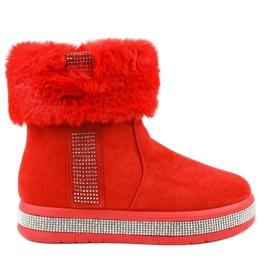 Eskimos K-356 en daim rouge isolé