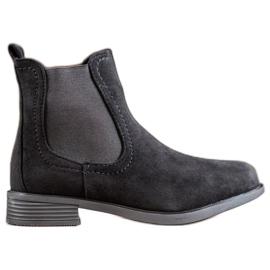Ideal Shoes Bottes Jodhpur décontractées noir