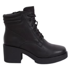 Bottes noires avec semelle épaisse noir 2097 noir