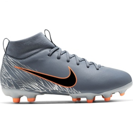 Chaussures de football Nike Mercurial Superfly 6 Academy Mg Jr AH7337 408 orange, gris / argent