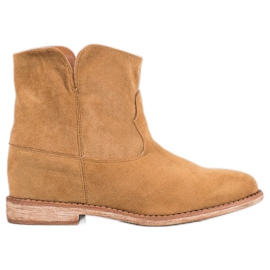 Bella Paris Bottes de cow-boy en daim brun