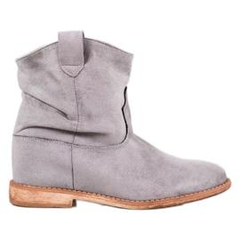 Bella Paris Bottes De Cowboy Sur Compensées gris