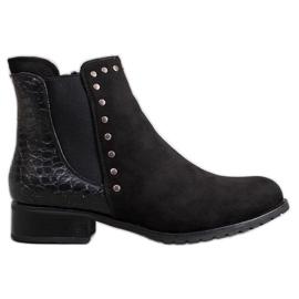 SHELOVET Bottines noires à la mode