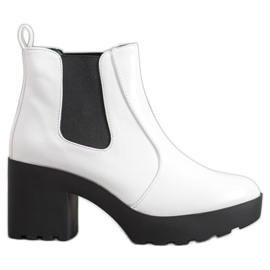 Weide Bottes mode jodhpur blanc
