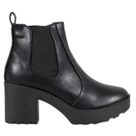 Weide Bottes mode jodhpur noir