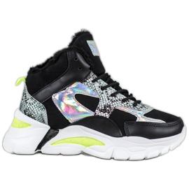 Bella Paris Sneakers avec effet holo noir