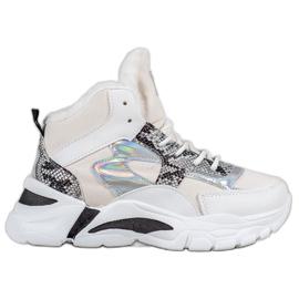 Bella Paris Sneakers avec effet holo blanc