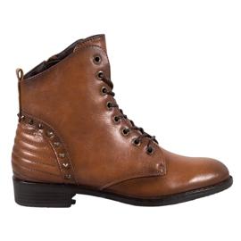 Bottes VINCEZA élégantes brun