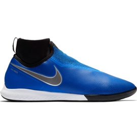 Nike React Phantom Pro Df Ic M AO3276 400 chaussures de football noir, bleu