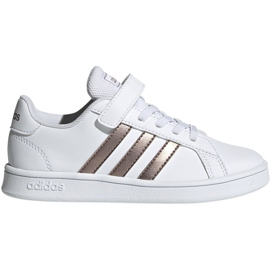 Chaussures Adidas Grand Court C Jr EF0107 blanc