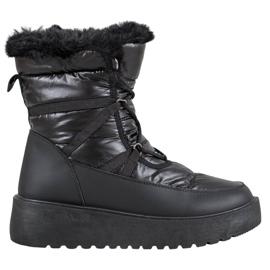 Bella Paris Bottes de neige de mode noir
