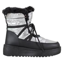 Bella Paris Bottes de neige de mode gris