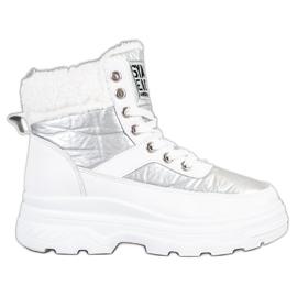 Bella Paris Sneakers en peau de mouton blanc