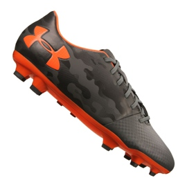 Under Armour Spotlight Dl Fg M 1289534-101 chaussures de football gris gris, orange