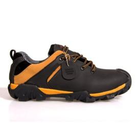 Bottes de randonnée en cuir NAT. 6254 noir