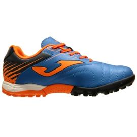Chaussures de football Joma Toledo 2004 Fg Jr TOJS.2004.TF bleu, orange bleu
