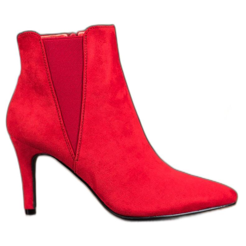 Marquiz Bottes Sur Un Stiletto rouge