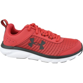 Under Armour Assert 8 Jr 3022100-601 chaussures rouge rouge