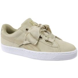 Chaussures Puma Basket Heart Metallic Safari W 364083-01 brun